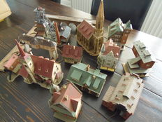 Vollmer/Kibri/Faller N - 14 (half-timbered) houses, churches, coal mine and buildings