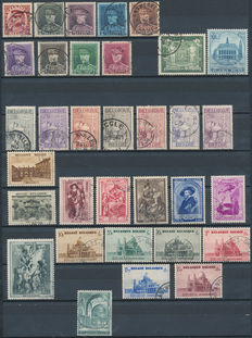 Belgium, 1893-1939, collection between OBP 53/67 and 504/511