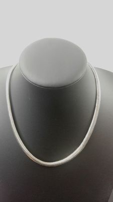 Silver necklace, 925 kt, length: 36 cm, width: 5 mm, weight: 72.4 g