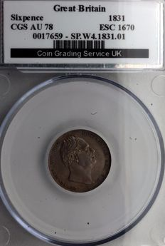 United Kingdom - 6 Pence 1831 William IV - silver