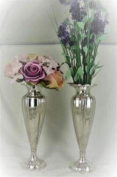 2 silver chalice vases, E.L. Vietor, Darmstadt, Germany, late 19th century/early 20th century