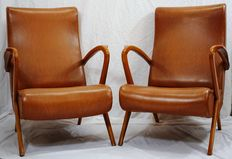 Unknown designer – Pair of armchairs