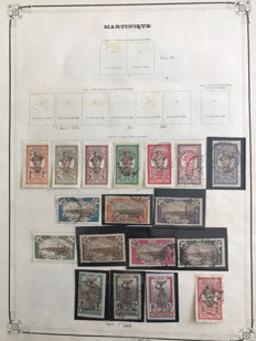 French colony, Martinique, 1908-1947, extensive collection, with airmail and postage on album sheets