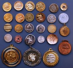 Greece - Collection of metal tokens (22 pieces) and medals (5 pieces)