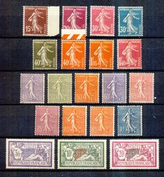 France 1924/1926 - genereal use series - Yvert no. 190-208