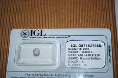 Diamond – 0.49 ct – natural – K/I2