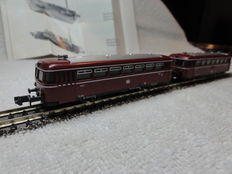 "Arnold N - 0285 – diesel motor car VT98 ""railbus"" with carriage of the DB"