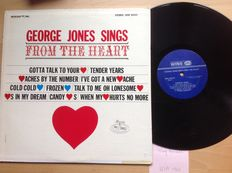 George Jones - Lot 10 albums from 1962  1963  1964. These old records are often hard to get.