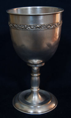 Silvered church chalice - end of 19th century