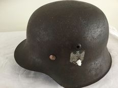 German helmet M-42WO2. Liner, Decal. Wehrmacht.