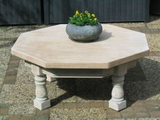 Coffee table White Wash oak trendy look, the Netherlands, early 1970s