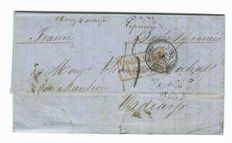 Mexico 1856 - folded letter from VeraCruz to France using Anglo/French Postal Convention