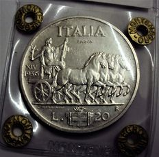 Kingdom of Italy – 20 Lira test, 1936, 'Empire'  Vittorio Emanuele III – silver