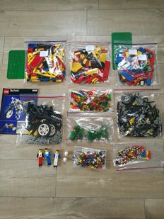 Assorted / Legoland / Technic - 1 kg Lego + 360 + 368 + 387 + 8838 - Gravel Quarry + Taxi Station + Excavator and Dumper + Shock Cycle