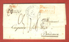 Mauritius 1844 - foldet letter, statement due Frc. 1461.80,  to Bordeaux using Anglo/French Postal Convention