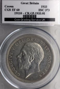 United Kingdom - Crown (Wreath) 1933 George V - silver