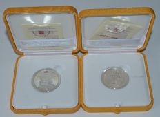 Vatican city – 5 Euros 2009 '42nd world day for Peace' + 10 Euro 2009 '80 Years Vatican' – silver