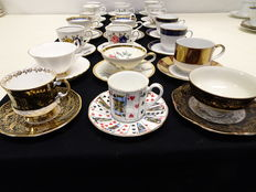 21 cups and saucers
