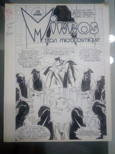 Mitton, Jean-Yves - Original plate, title page (p.1) + colour tracing paper - Mikros issue 19 - (1983)