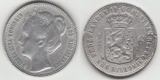 The Netherlands – ½, 1906 Wilhelmina – silver