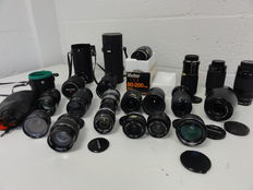 Lot of 19 lenses various brands