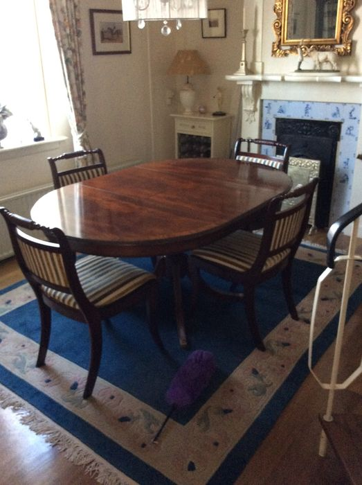 Incredible Mahogany Extendable Dining Table With Four Chairs England 20Th Century Catawiki Cjindustries Chair Design For Home Cjindustriesco