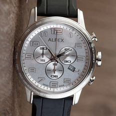 Alfex chronograph – men's wristwatch – mint condition