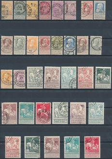 Belgium 1893/1932 – Selection between OBP 53/67 and 352
