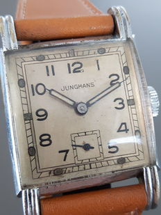Junghans square men's wristwatch -- Circa 1950s