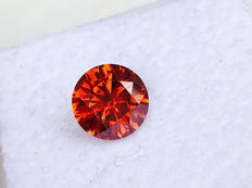 Red Diamond - Brilliant Cut - 0.99 ct - without reserve price