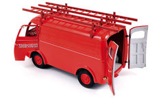 "Norev - Scale 1/18 - Peugeot D4A 1955 ""Pompiers with ladders"" - Colour Red"
