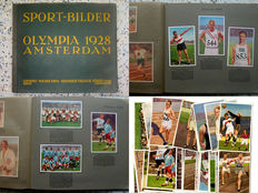 "Collectible picture album ""sports pictures, Olympics 1928 Amsterdam"" – complete with all 84 pictures + 28 loose collectible picture cards ""Olympics 1928"""