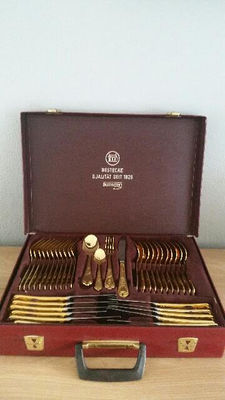 SBS Solingen cutlery set (23/24 k) gold plated
