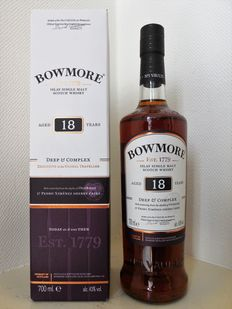 Bowmore 18 years old, Deep & Complex, No.1 vaults, new exclusive travel release.