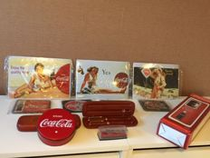 Beautiful nostalgic Coca-Cola items from various years