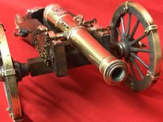 Cannon with nice finishes on wooden frame