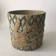 Johnny Rolf - Ceramic pot with hands