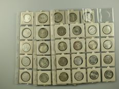 Germany - Collection of 5 and 10 Mark coins, 1969-2000, 55 pieces