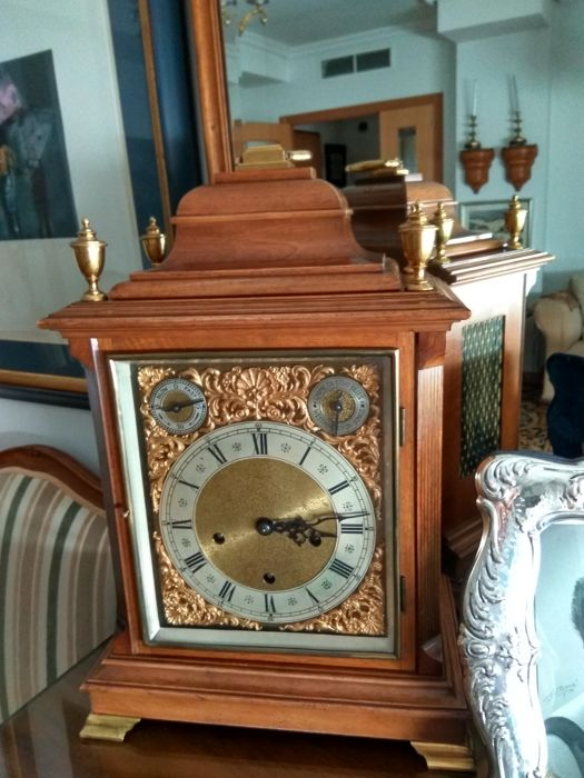 Table clock from the first half of the 20th century in wooden box