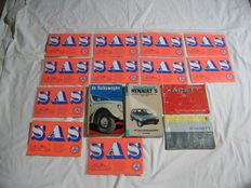 Varia; Volkswagen book 1953 - 2 manuals Kadett - help book Renault 5 - 11 breakdown cards SAS