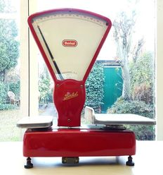 Beautiful red Berkel scale - Type E, approx. 1960, The Netherlands