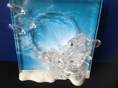 Swarovski - Harmony, annual edition made of clear crystal with plaque.