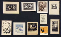 Ex-libris; Lot with 10 Czech ex-libris from the years 1910-1931