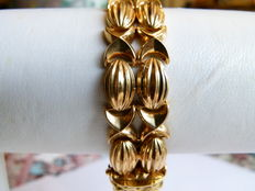 Very beautiful gold bracelet, 18 kt
