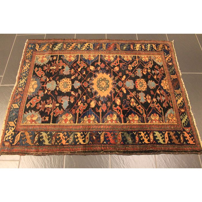 Antique high-quality hand-knotted Persian carpet, Ziegler Malayer, made in Iran around 1930, plant colours, 145 x 110 cm
