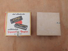 German full boxes EFKA cigarettes smoking paper 2 pieces complete with swastika stamps