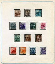 "Republic of Italy - 1945/73 - Collection of used stamps in ""Coloralbum"" album."