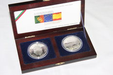 Portugal and Spain - 2 x €10 collector coins 2006 - silver