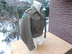 Original British dated battledress  P40 1944 RASC from a Captain