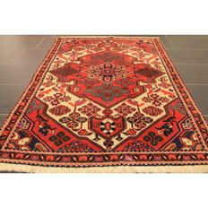 Perser Teppich Malayer Ghom 155x105cm Made in Iran um 1960 Naturfarben